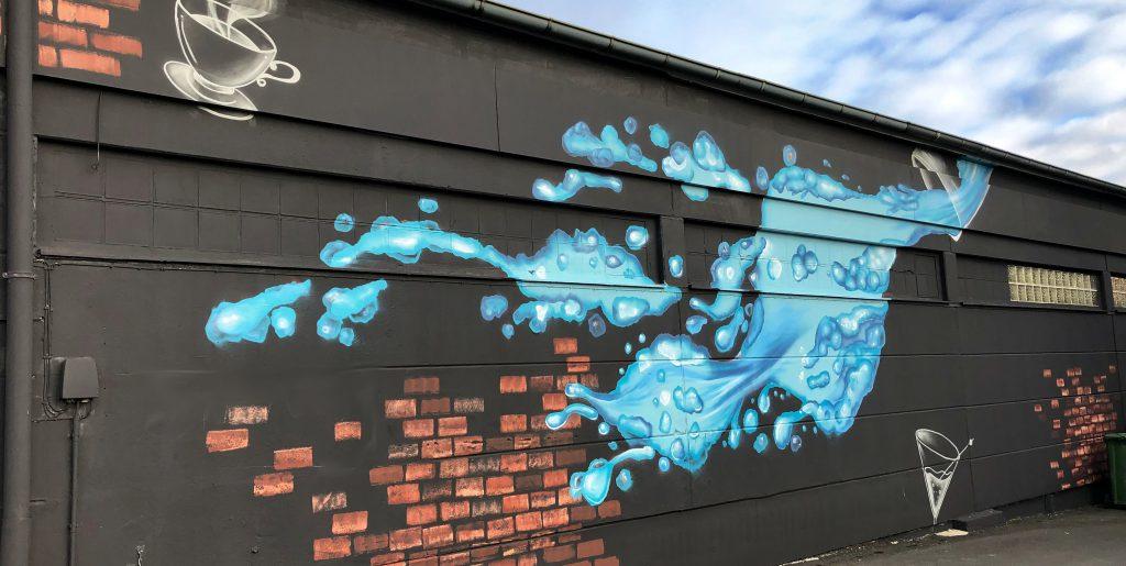 Wandbild für einen Getränkemarkt | Der Kunstwerker
