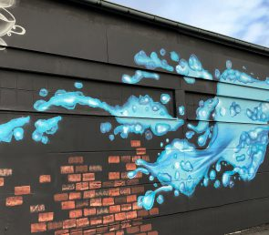 Wandbild für einen Getränkemarkt