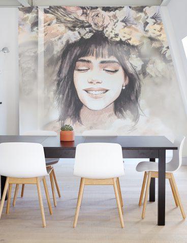 Portrait Wandmalerei