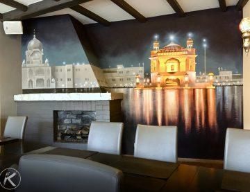 Realistische Wand-Malerei