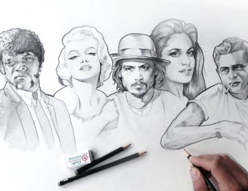 Eine Portrait Zeichnung als Geschenkidee