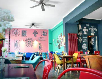 Wandgemälde im Restaurant
