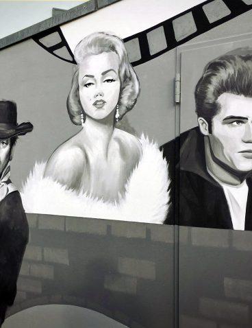 Filmstars Malerei an der Fassade