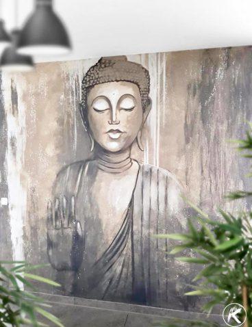 Buddha als Wandgestaltung