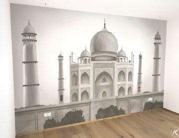 Taj Mahal als Wandbild