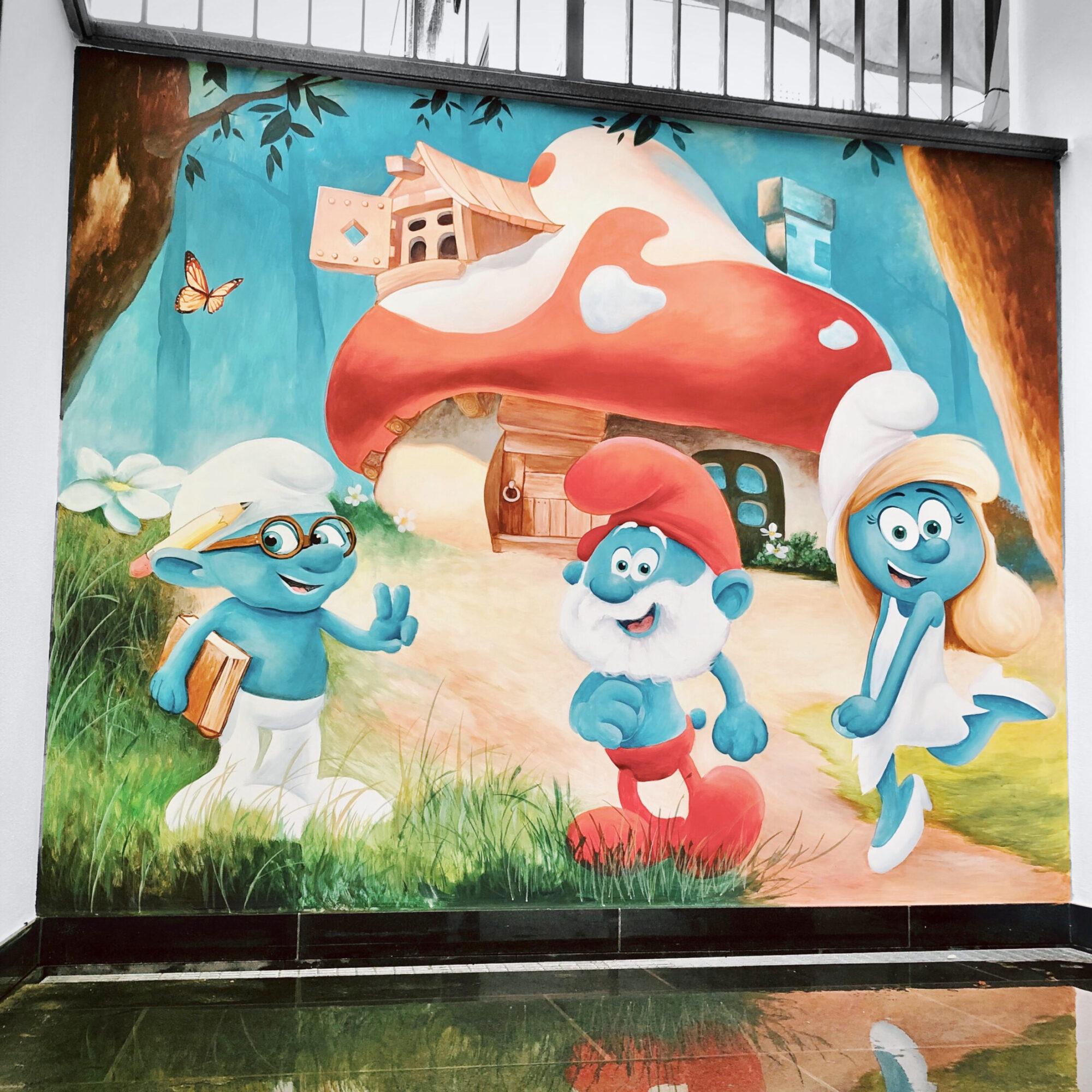 Wandbild für ein Kindergarten